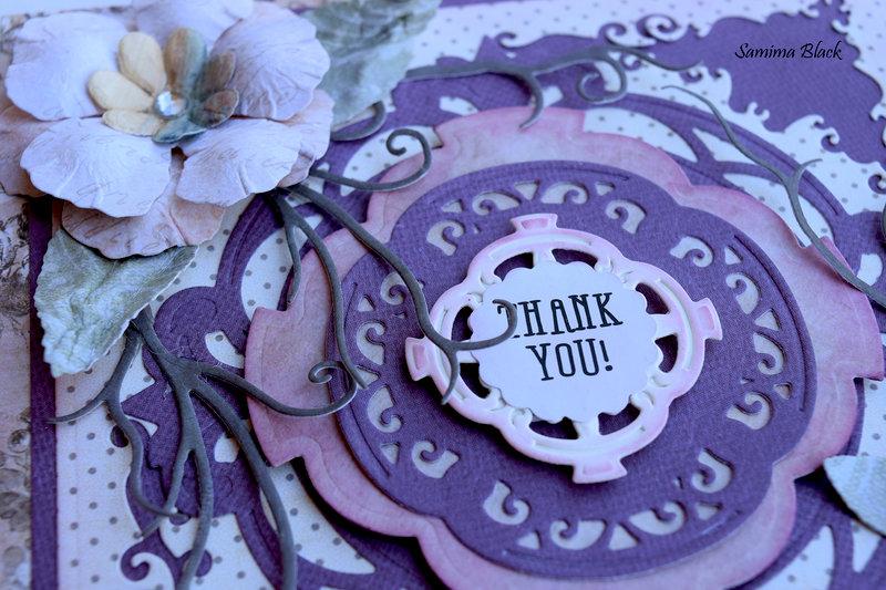 Purple Thank You Card