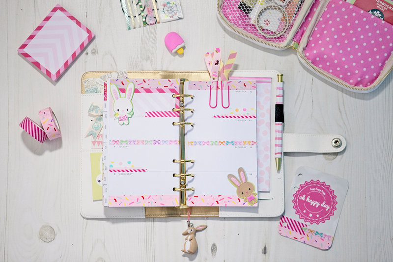 Bunnies Calendar Layout - Websters Pages Color Crush Planner