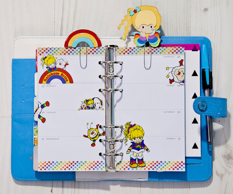 Rainbow Brite in my Blue Color Crush Planner