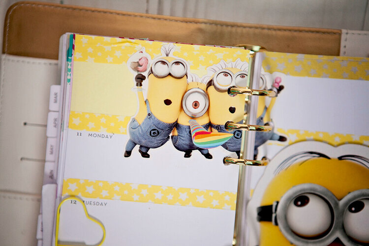 One in a minion - week layout