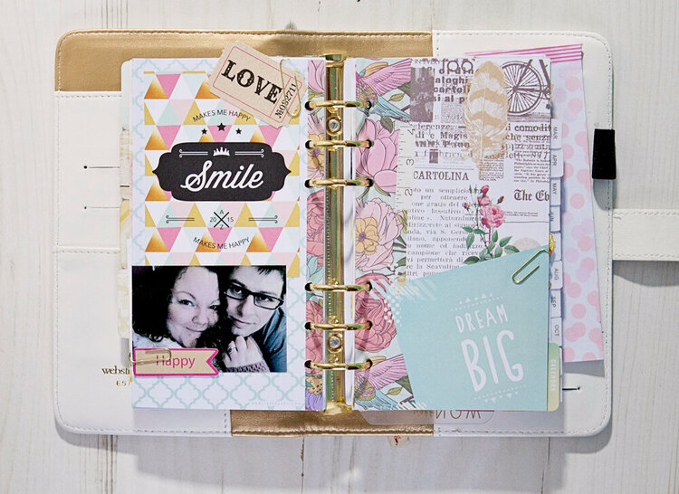 Using the Staying Inspired section in my Websters Pages Color Crush Planner