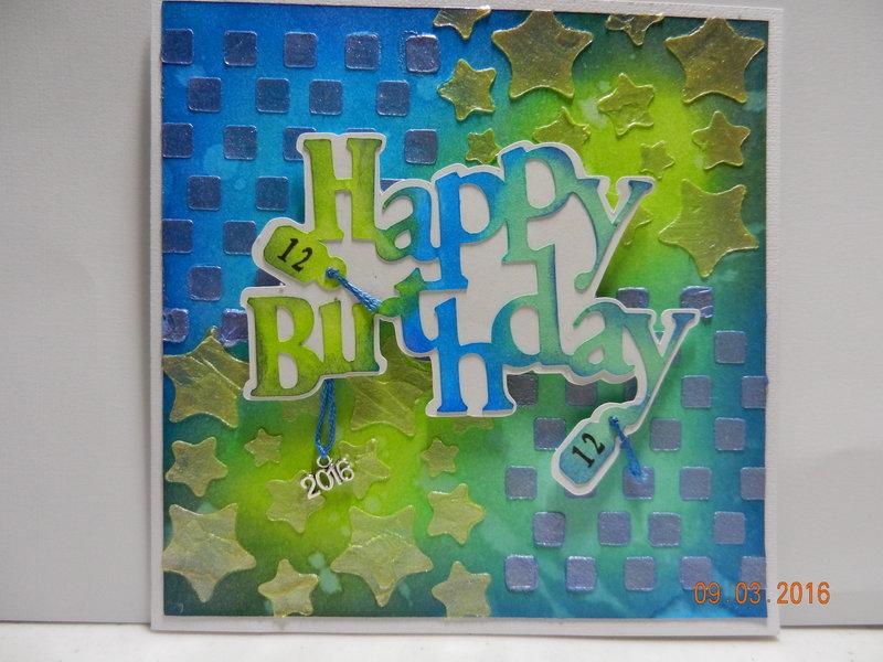 Mixed Media Birthday card
