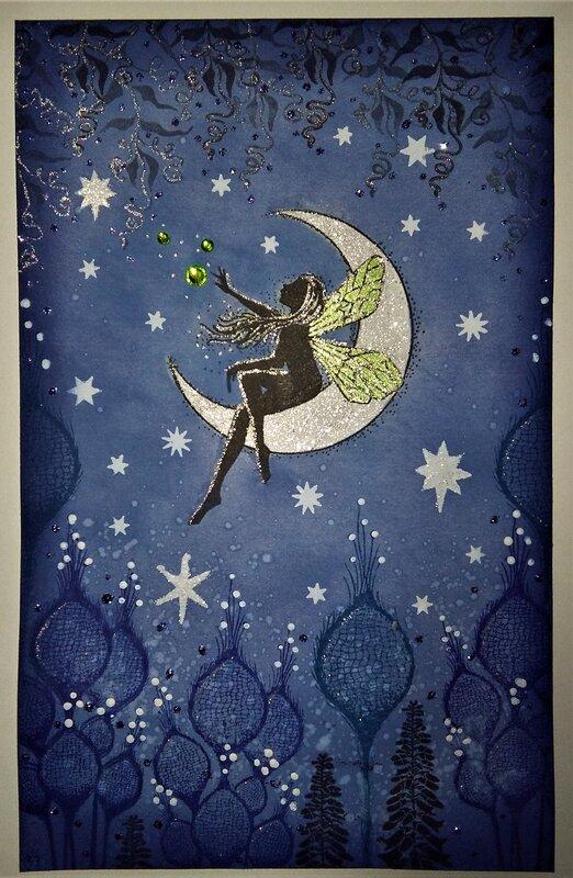 Moonlight and Stars Fairy card
