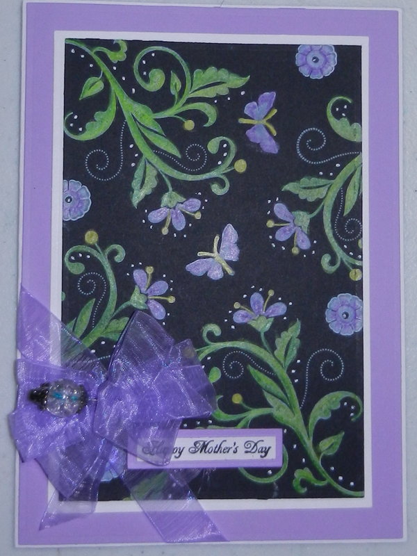 Black Magic Mother's Day card