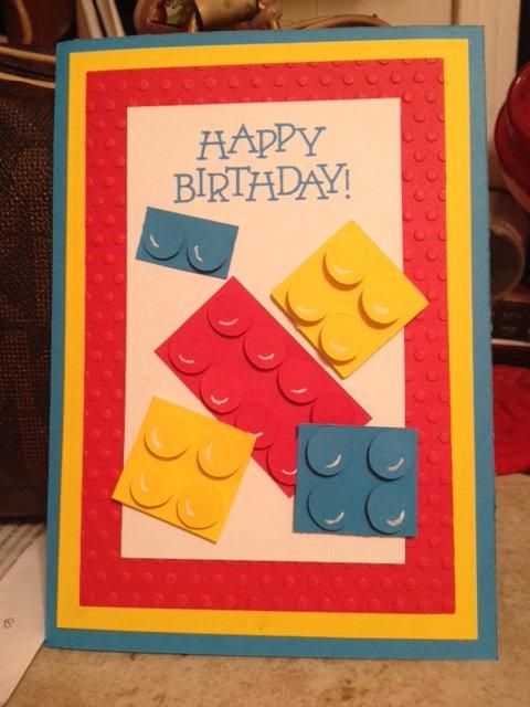 Lego Happy Birthday card
