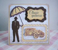 Retro card for men