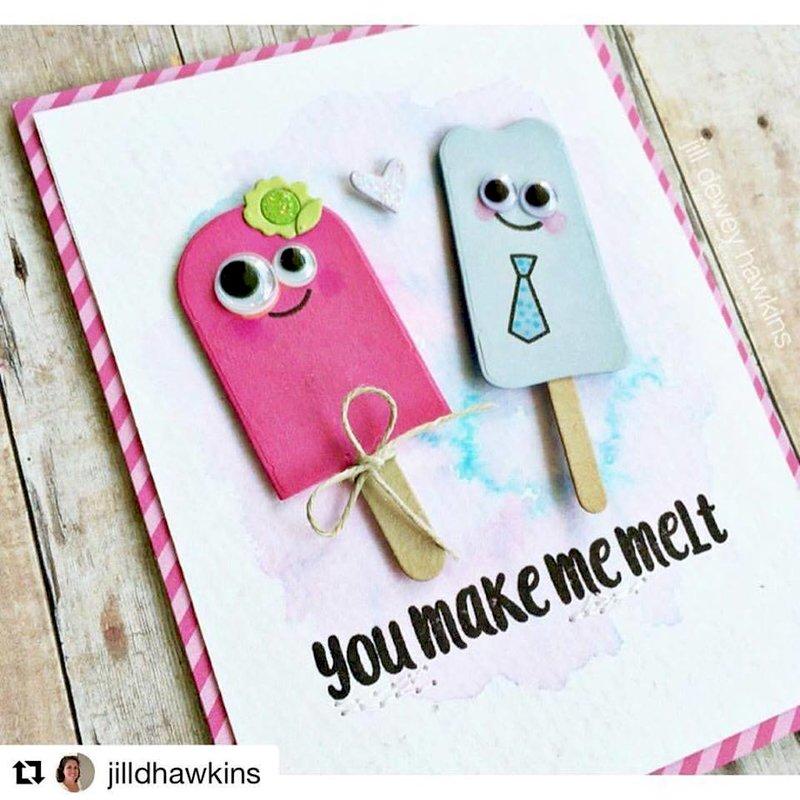 You Make Me Melt Popsicle Die Cut Card