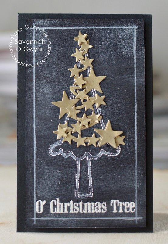 O Christmas Tree Chalkboard Card