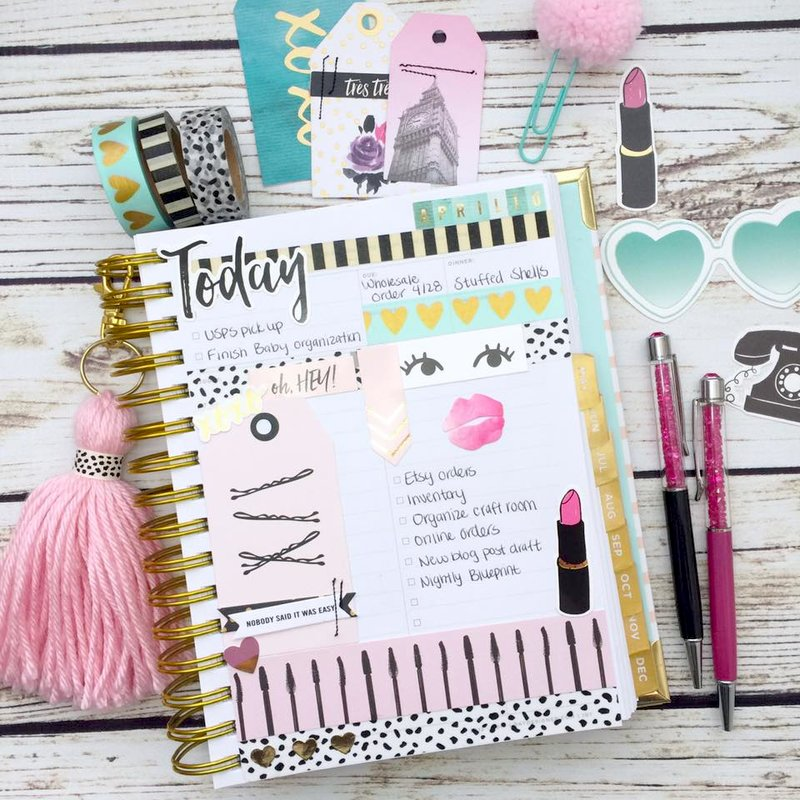 Urban Chic Daily Planner Page Layout