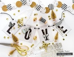New Year's Eve decoration - Crate Paper DT