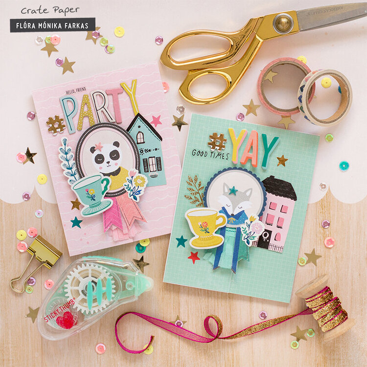 Crafty Party Invitation - Crate Paper DT
