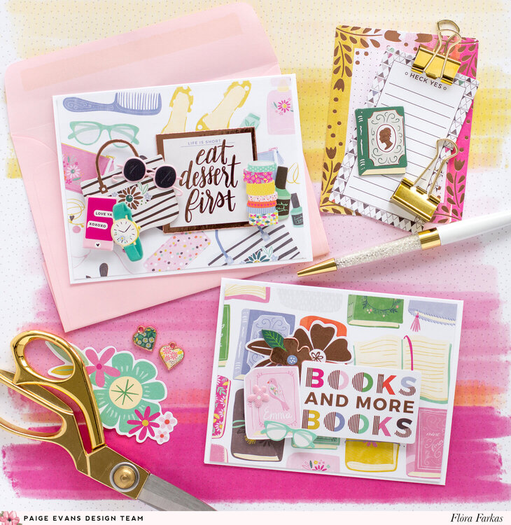 Cards for girls - Pink Paislee Paige Evans DT