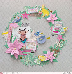Christmas Wreath - Pink Pailsee Paige Evans DT