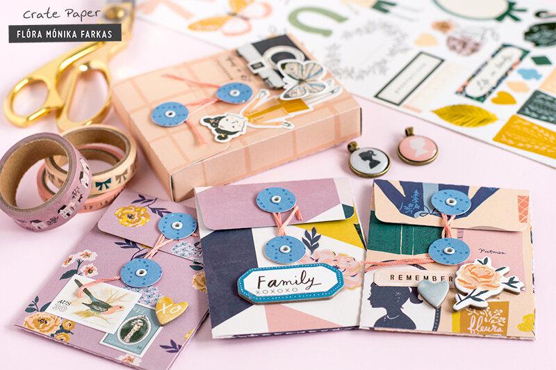 String Tie Envelope Mini Album - Crate Paper DT