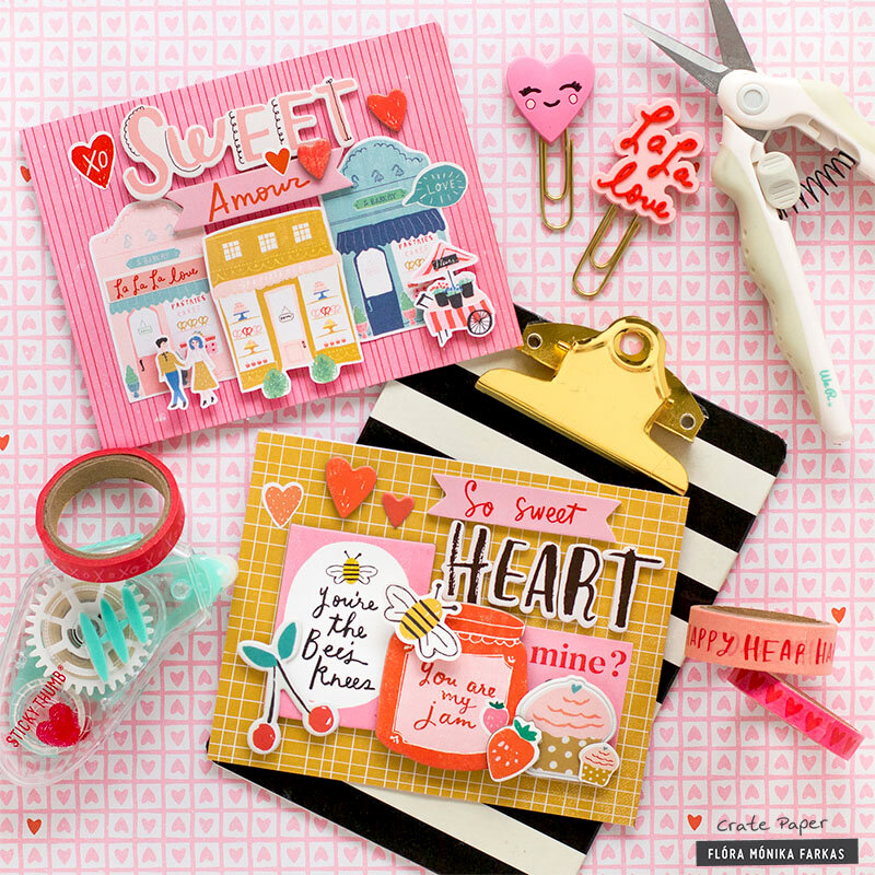Valentine's Day Cards - Crate Paper DT