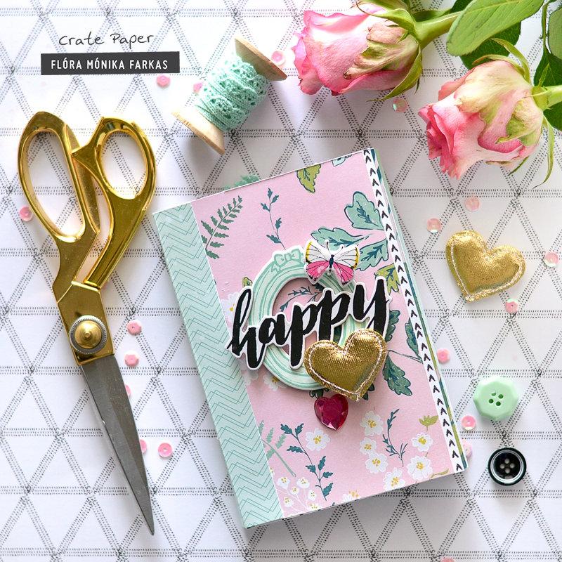 Happy Heart mini album - Crate Paper DT