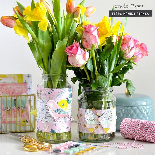 Easy DIY vase decor - Crate Paper DT