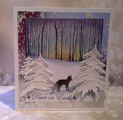 Hero Arts Winter Trees stamp