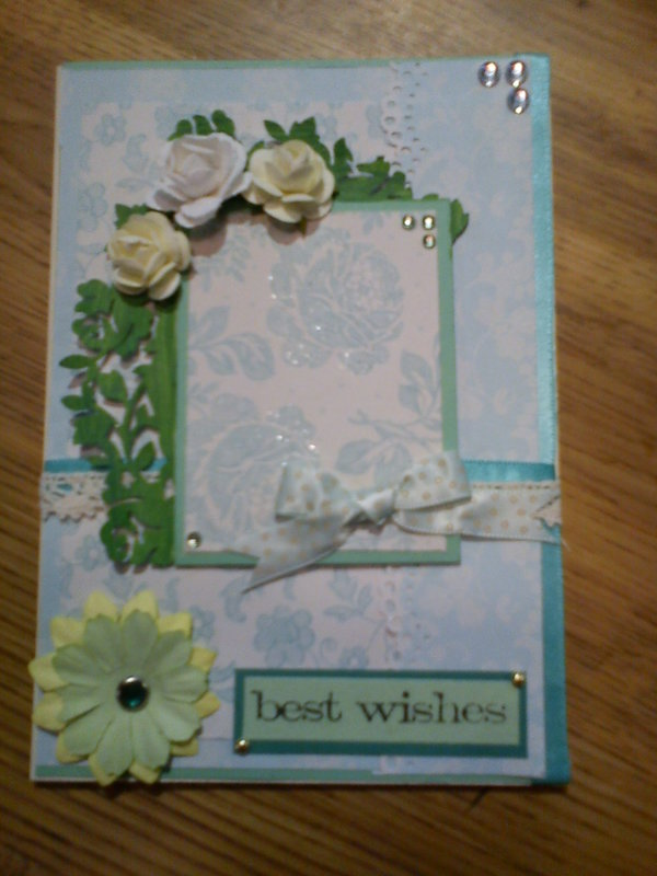 Mint roses card