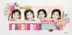 Beautiful Lipstick Diva Layout