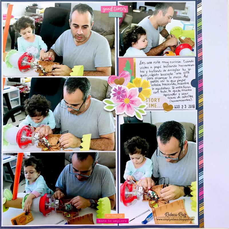 Daddy's Little Helper Layout