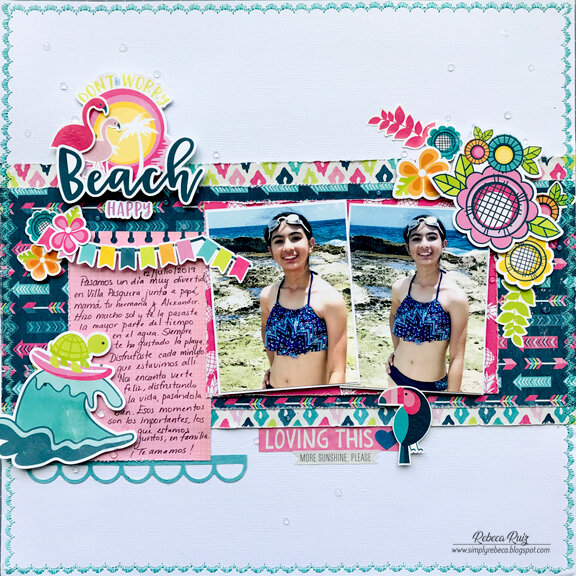 Don't Worry Beach Happy Layout
