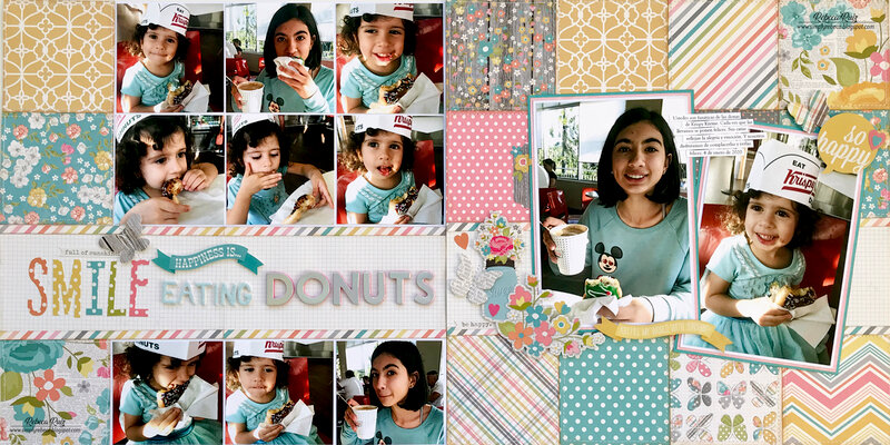 Smile, Happiness is Eating Donuts Layout