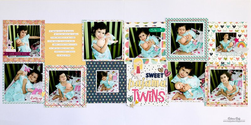 Sweet Pajama Twins Layout