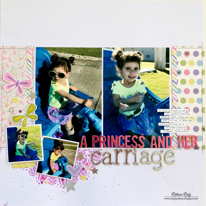 A Princess and Her Carriage Layout