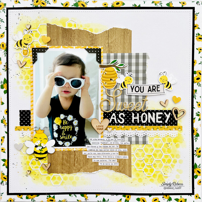 You Are Sweet As Honey Layout