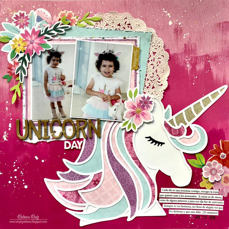 Unicorn Day Layout