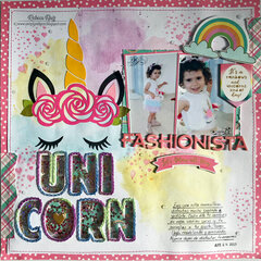 Unicorn Fashionista Layout