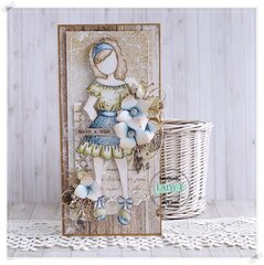Card with Prima Doll