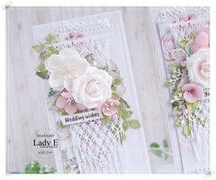 Wedding Card with macrame