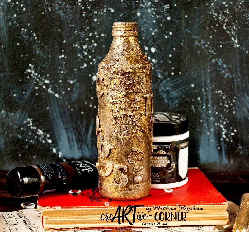Mixed Media Altered Bottle
