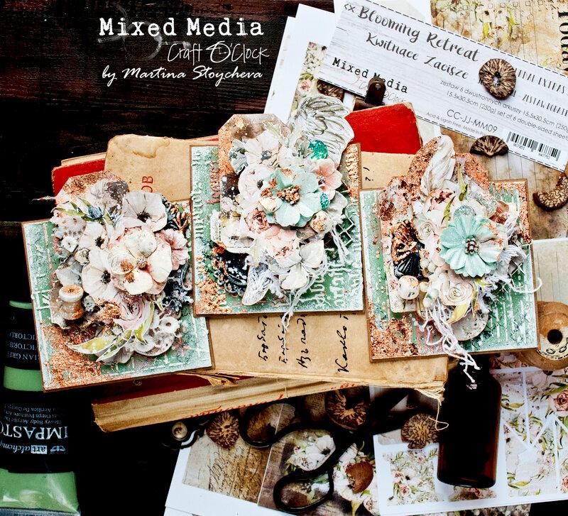 Mixed Media Square ATC Cards