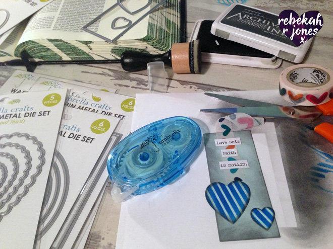 Create A Custom Bible Bookmark With Umbrella Crafts Dies