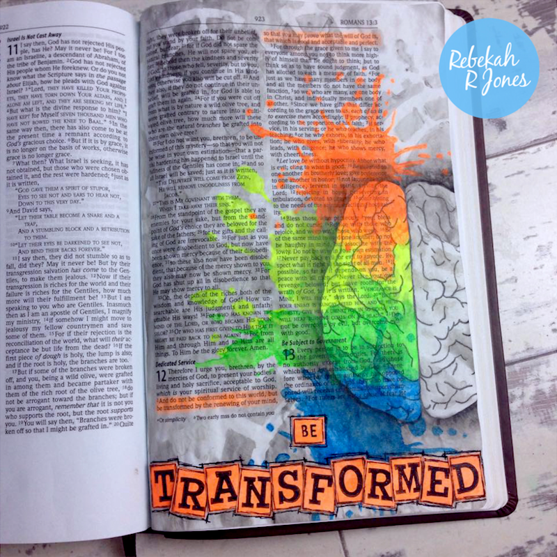 Week 13 Original Bible Art Journaling Challenge
