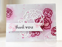 Watercolor Roses Thank You Card