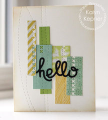 Stitched Hello Card