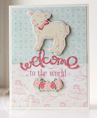 Welcome Little Lamb Card