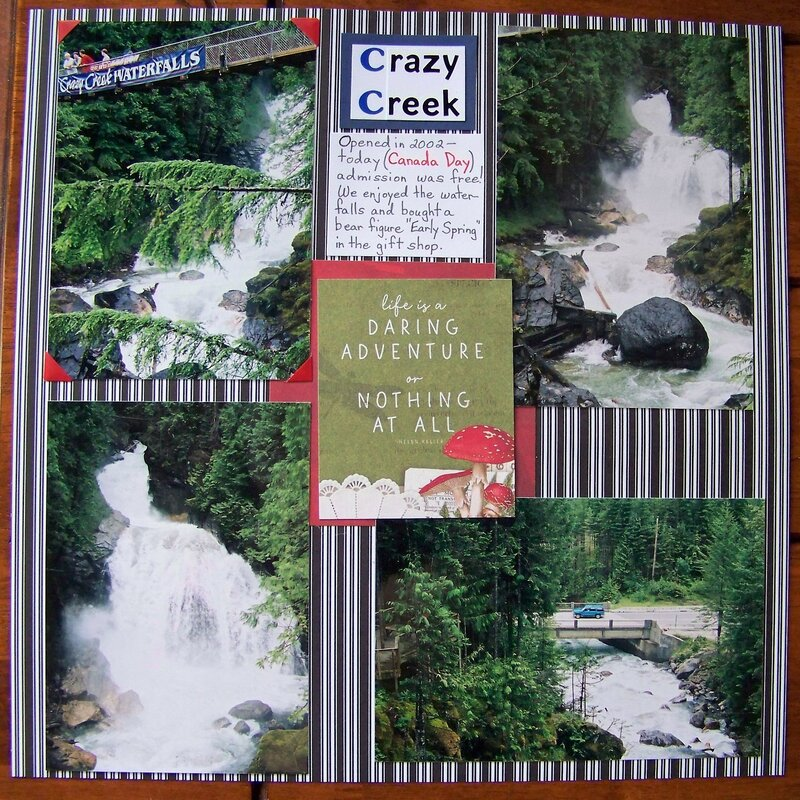 Crazy Creek Waterfalls