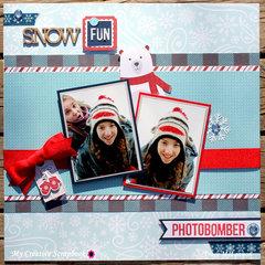 Snow Fun Photobomber