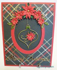 Gold ornament card