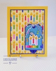 Birthday candles - double slider tag