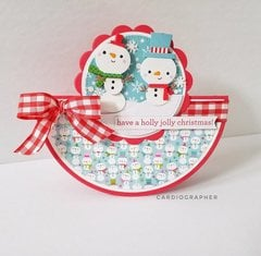 Snowmen rocker card