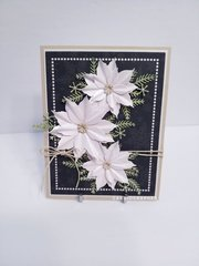 White poinsettia trio