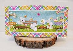 Easter garden scene