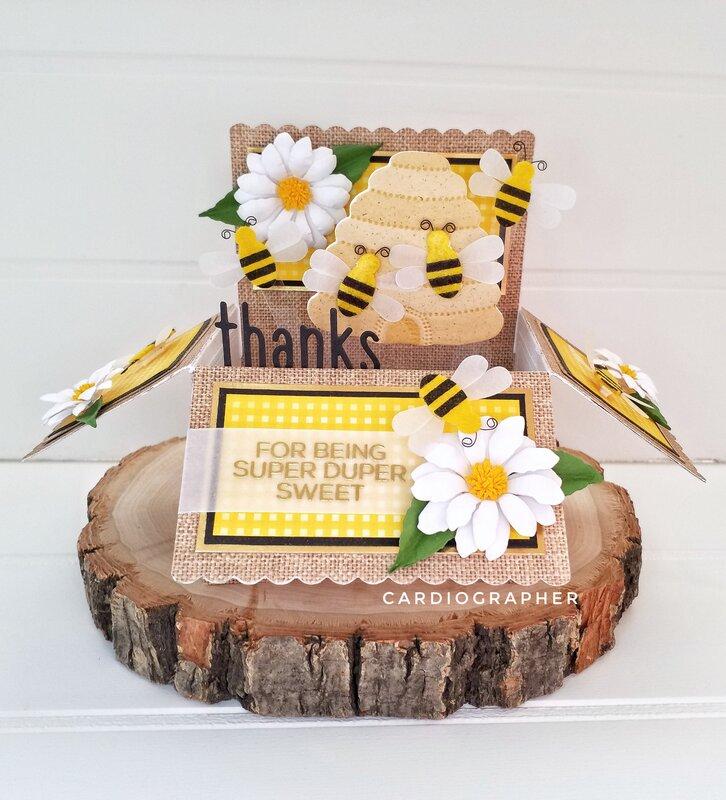 Bee pop-up box card
