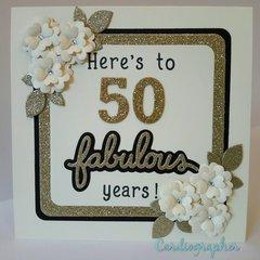 Anniversary card - 50 fabulous years